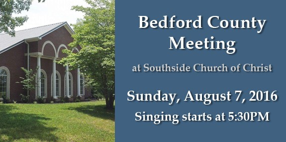 Bedford County Meeting